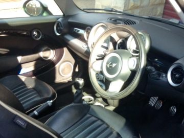 Mini Cooper S (Blue) with panoramic sun roof